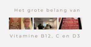 Vitamine B12 - C en D3