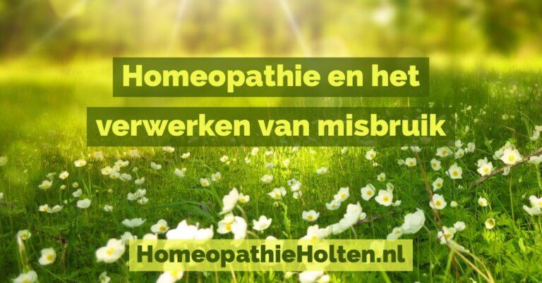 Wat kan homeopathie betekenen voor misbruik?