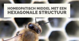 Een homeopathisch middel met een hexagonale structuur